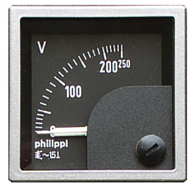 Philippi Quadratisches Messinstrument SQB 250V AC Voltmeter
