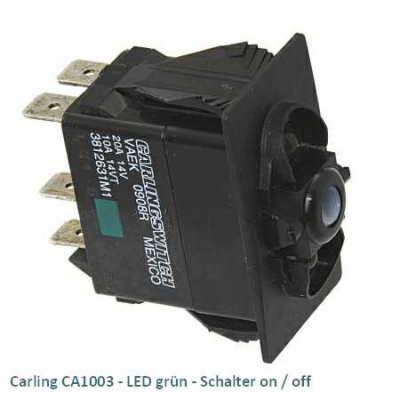 Carling CA1003 LED grün - Schalter on/off