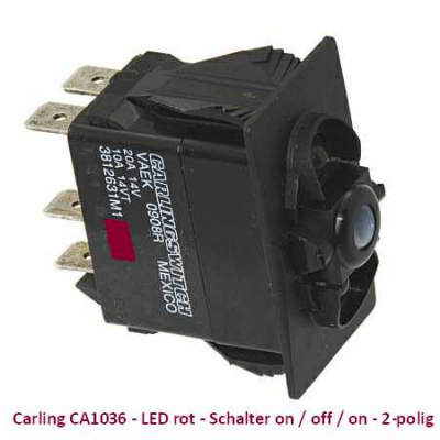 Carling CA1036 LED rot - Schalter on/off/on - 2-polig