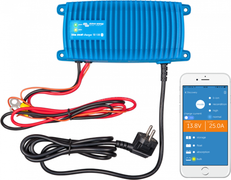 Victron Blue Smart IP67 Charger 12/25(1) Schuko