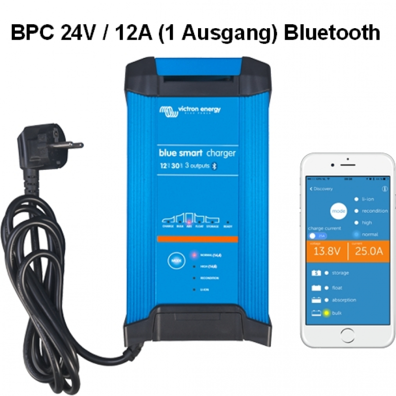 Victron Blue Smart IP22 Charger 24/12(1) Schuko