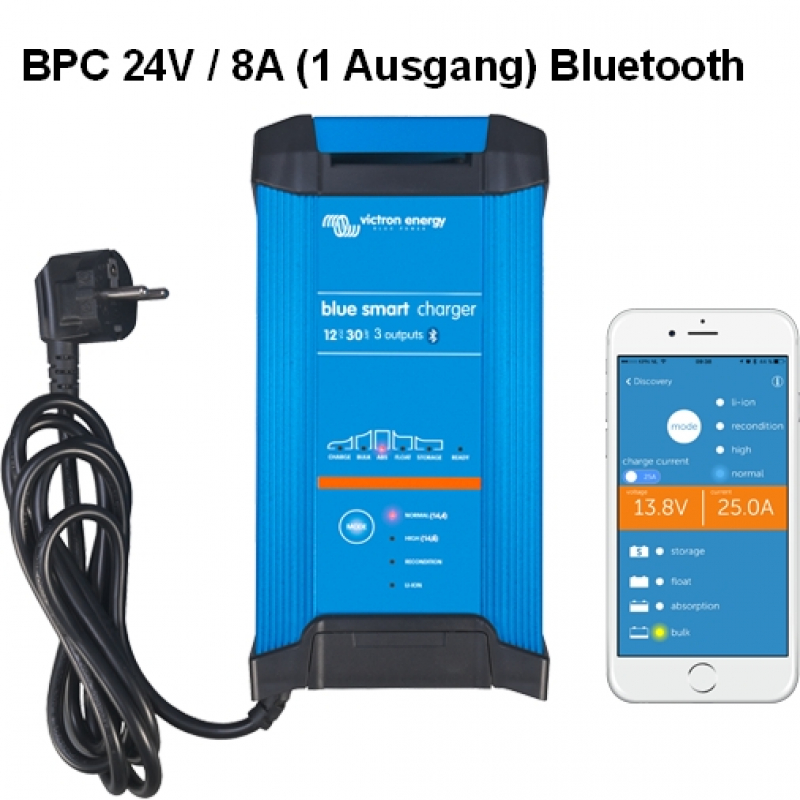 Victron Blue Smart IP22 Charger 24/8(1) Schuko