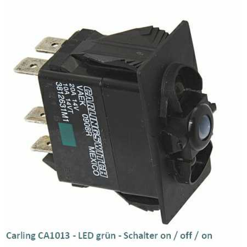Carling CA1013 LED grün - Schalter on/off/on
