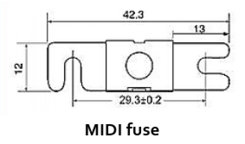Victron MIDI-fuse ANL 32V (package of 5 pcs)